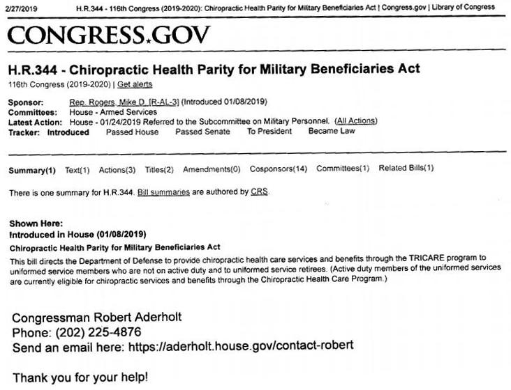 Chiropractic Guntersville AL Military Act